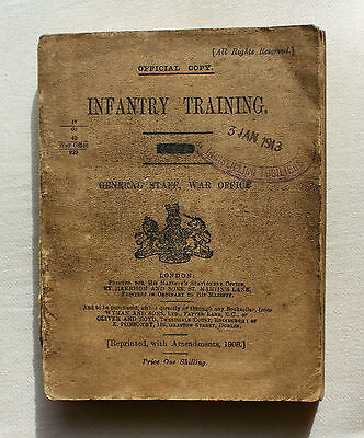 Royal Inniskilling Fusiliers Infantry Training Manual Dated 23 January 1913!!
