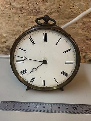 Antique French Drum Clock, Mantle Clock, Carriage Clock