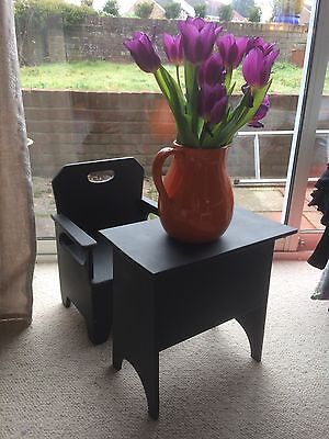 Small Wooden Chair And Antique Table- Ideal Kids Set