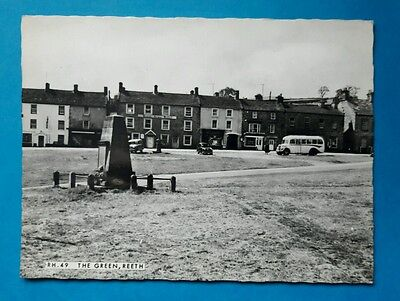 The Green, Reeth North Yorkshire RP postcard