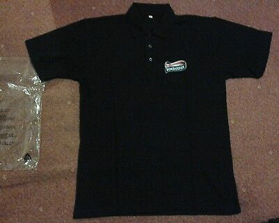 Bombardier Charles Wells ale polo shirt new size large