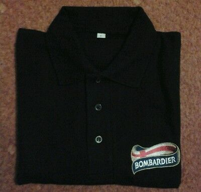 Bombardier Charles wells ale polo shirt new extra large