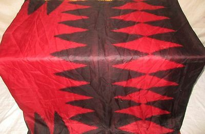 Red Black Pure Silk 4 yard Vintage Sari Saree Stage performance acting NR #OEDTF