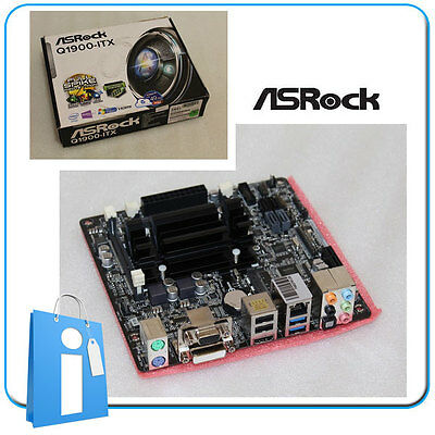 Placa base Mini ITX miTX ASRock Q1900-ITX intel Quad Core J1900 con Accesorios