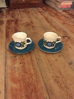 J&G Studio Meakin Retro Vintage Coffee  Cup And Saucer Set X2
