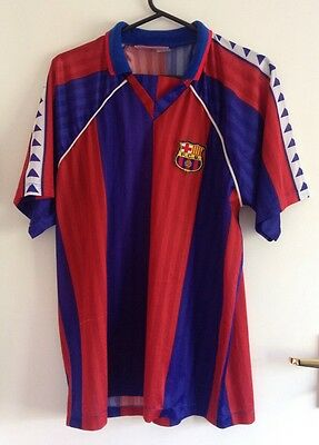 KAPPA Barcelona FCB 1992-1995 Romario #10 Home Football Shirt Jersey Small RARE