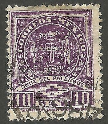 Mexico Stamp 1935 10c Violet Cross of Palenque Scott#712 Fine Used