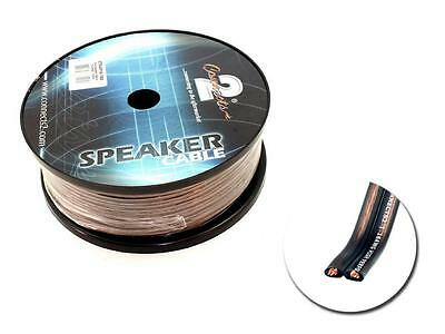 16 gauge flat speaker cable 100m drum roll by Connects2  For car / home / boat
