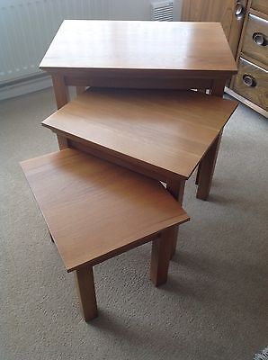 Solid Oak Nest Tables