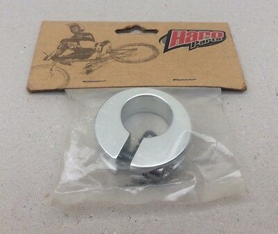 """**old School Bmx """"haro"""" Fusion Seat-Clamp (Silver) 25.4Mm Nos**"""