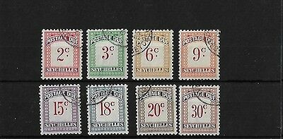 Seychelles Postage Due Set, Fine Used, Sgd1/8, Cat £48