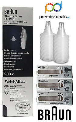Braun Probe Covers Replacement Theromoscan Lens Filter Caps Pc20 - Pc800