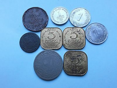 Collection  of 9 Vintage  Middle and Far East coins