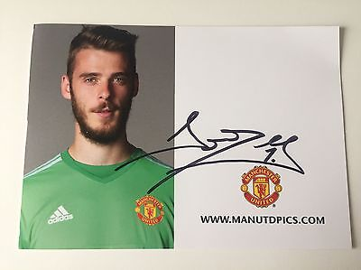 RARE 2015/16 David De Gea Manchester United Signed Club Card + COA AUTOGRAPH