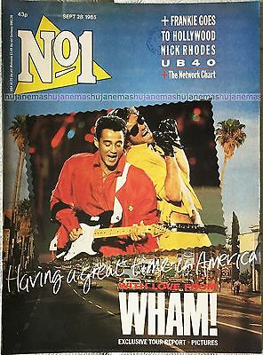 No 1 George Michael Wham! Frankie Goes To Hollywood Nick Rhodes 1985 Magazine