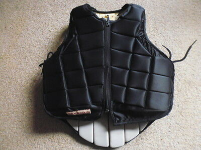 Racesafe 2010 Childs Medium Standard Body Protector black 8-11 years approx