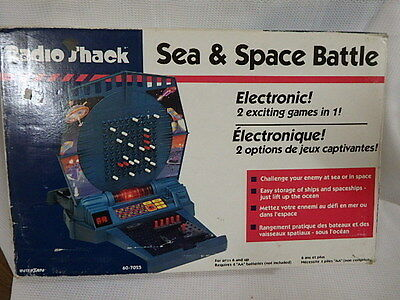 Collectors Vintage Radio Shack Sea & Space Battle Electronic Game
