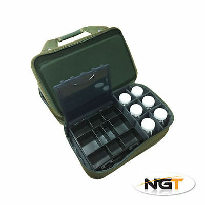 New NGT 920 Folding Tackle Box System Storage Case With Glug Pots Carp Fishing