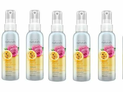 5 x Avon Naturals Scented Spritz Room Linen Home Spray - Passionfruit & Peony