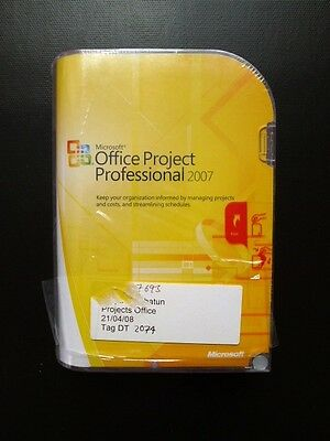 Microsoft Office Project Professional Pro 2007 Full UK Retail DVD H30-01854 NEW