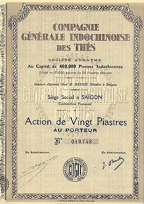 Indochine / Lot : 5 X Compagnie Generale Indochinoise Des Thes
