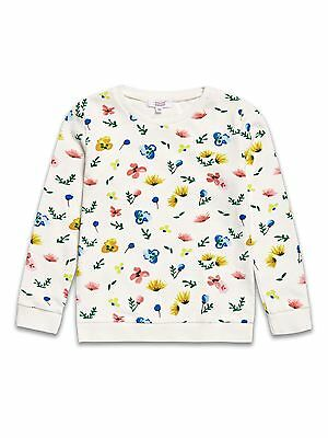 Girls Floral Sweatshirt / Jumper. Age 11-12 Years