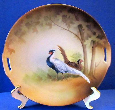 RS Germany Scenic Pheasant Cake Plate