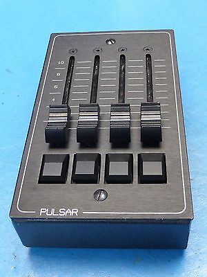 Pulsar 4 Channel Lighting Control Desk - 4 Faders & Flash Buttons + 10M Din Lead