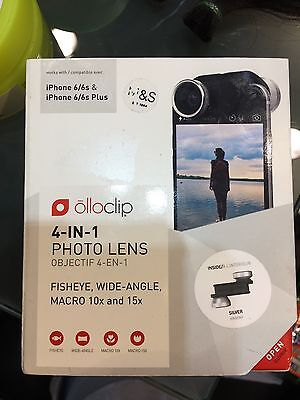 Olloclip FISHEYE, WIDE-ANGLE For iPhone 6/6s & 6s Plus NEW!!