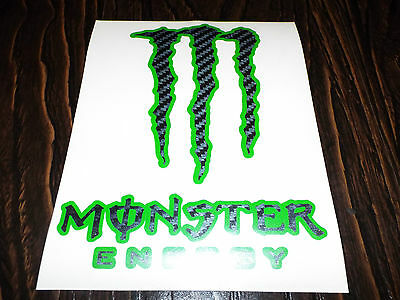 x2 Large Carbon Monster Claw Motorcycle Car Motocross Vinyl Stickers Decals