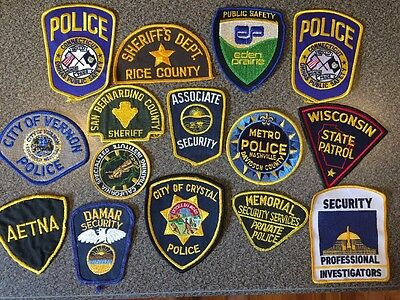 Vintage Obsolete Lot Of Police Patches And Security Patches Uniforms #1