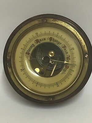 VINTAGE LUFFT BAROMETER  WOODEN WEATHER STATION spare/repair