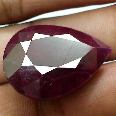 Red Ruby Faceted Pear Shape 63.60 Ct 100% Natural Amazing Top Gemsstone