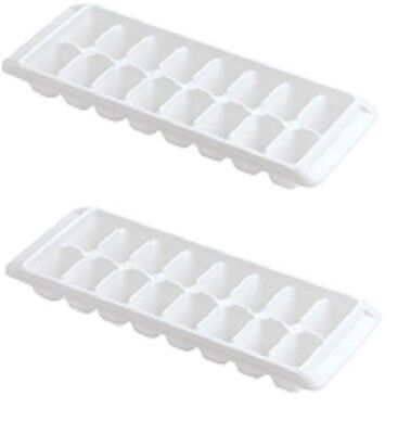 Rubbermaid White Easy Release Ice Cube Tray 2867-Rd Set Of 2 New