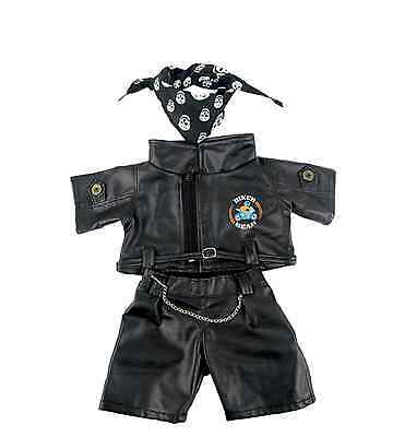 """Biker Bear outfit/clothes to fit 15""""/16"""" build a bear factory"""