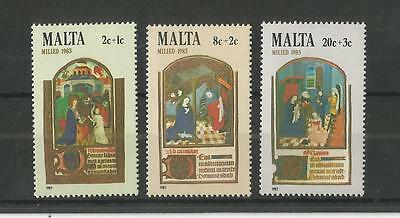 Malta 1983 Christmas Sg,719-721 Um/m Nh Lot 2145A