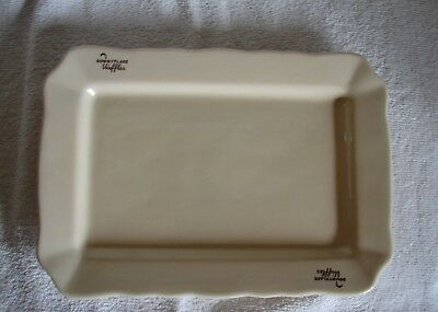 Vntg Advertising Downflake Waffles Platter made by Iroquois China Syracuse NY