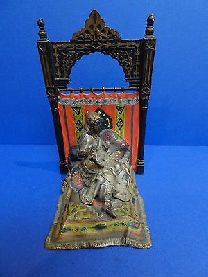 Early 20th Century Austrian Orientalist Cold Painted Bronze Bookend