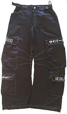 Retro Designer Brand Cyberdog Mens Trousers Pants Rave Goff Size Small