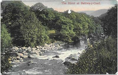 Bettws-Y-Coed,the River,early,coloured,unused Postcard.