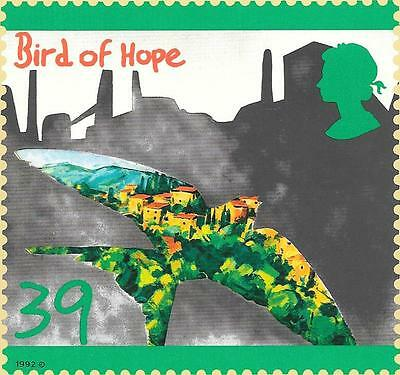Royal Mail,green Issue,bird Of Hope Card.1992