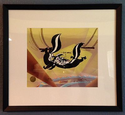 """Chuck Jones Hand Signed Animation Cel A/P Artist Proof """"Kitty Catch"""" With COA"""