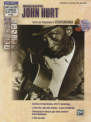 Mississippi John Hurt Early Masters of American Blues Guitar TAB Music Book/CD