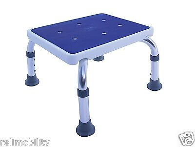 Adjustable Shower Stool Bath Step Anti Slip Rubber Grip Top Bathroom Safety