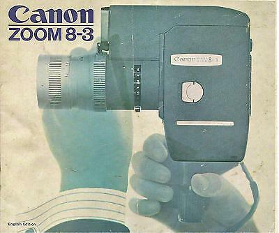 Vintage Canon Reflex Zoom 8-3 Camera Pamphlet Leaflet English Edition Ephemera