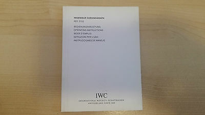 Iwc Ingenieur Chronograph Ref. 3725 Operating Instruction Booklet