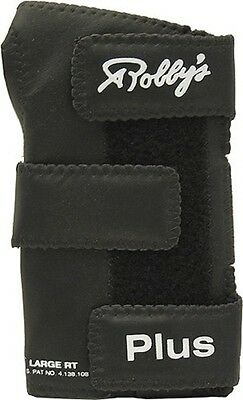 Robby's Plus Leather Wrist Positioner Black Right Hand Large