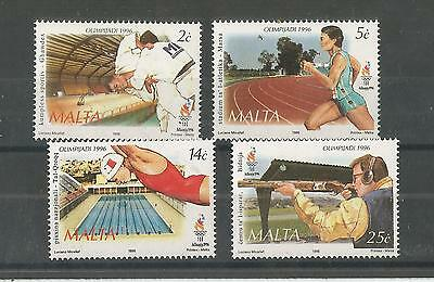 Malta 1996 Olympic Games Sg,1022-1025 Um/m Nh Lot 2167A