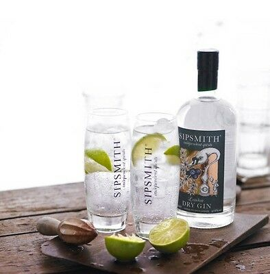 Sipsmith Gin Highball  Glass New X 2