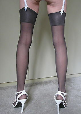 Stunning! - M&S - Ultra Smooth - Stockings - Extra Large - Black - NEW